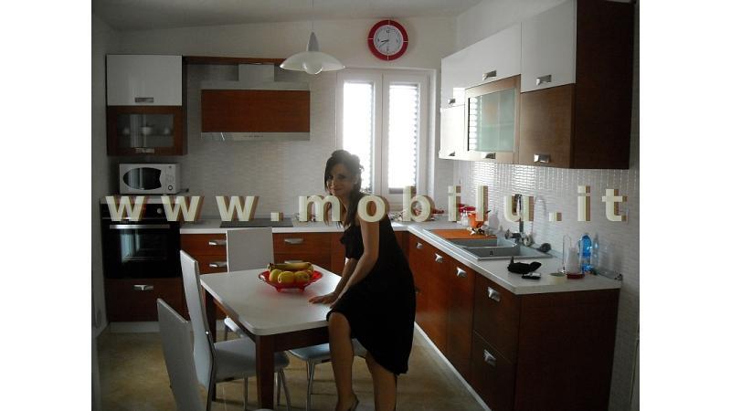 Cucine componibili Lecce e provincia realizzate in novolegno rivestito Rovere sbiancato